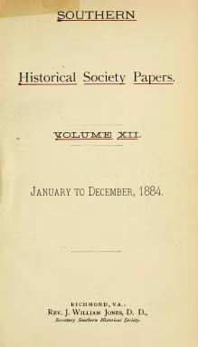 Southern Historical Society Papers volume 12.djvu
