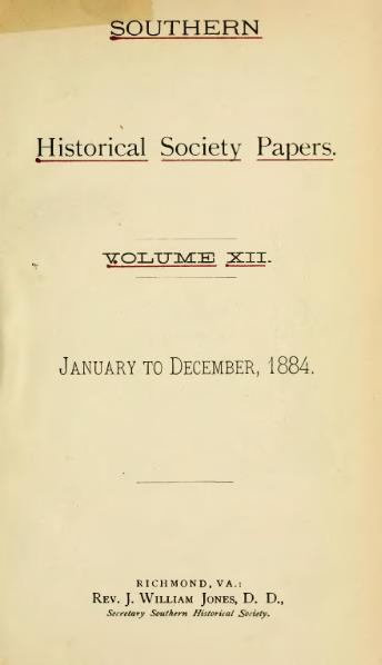File:Southern Historical Society Papers volume 12.djvu