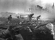 Soviet soldiers in the Battle of Stalingrad.