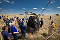 Soyuz TMA-03M capsule with Russian Search and Rescue crews.jpg