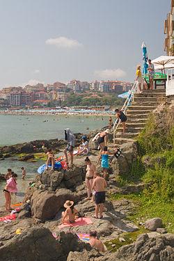 Sozopol Bulgaria beach by Jeroen Kransen.jpg