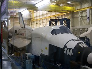 Space Vehicle Mockup Facility - The Full Fuselage Trainer of the Orbiter Space Shuttle in the SVMF