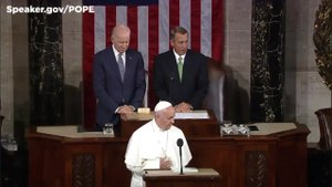 File:Speaker Boehner announces Pope Francis in the U.S. House of Representatives.webm