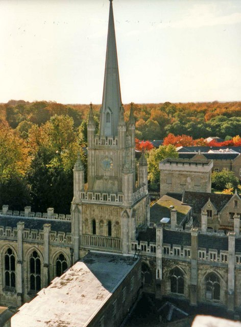 Spire of Chapel, Ashridge Management College, Hertfordshire - geograph.org.uk - 897514