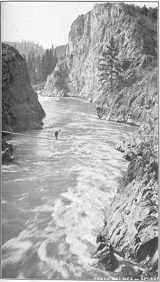 Spokane River - Spokane River in Lincoln County, 1909