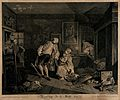 Squanderfield fatally wounded by a rapier leans back as his Wellcome V0049193.jpg