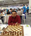 Sri Lankan Chess Champion 2016 - Rajeendra Kalugampitiya at Olympiad 2014 in Tromso Norway.jpg