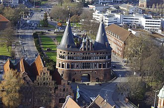 City gate - The Holstentor is a medieval city gate of the Hanseatic city of Lübeck and today a World Heritage Site.