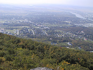 Beloeil, Quebec - The view from atop Mont Saint-Hilaire, which is probably the origin of the name, Belœil.