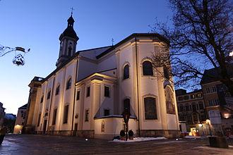 Traunstein - St. Oswald's Church, Market Square, Traunstein