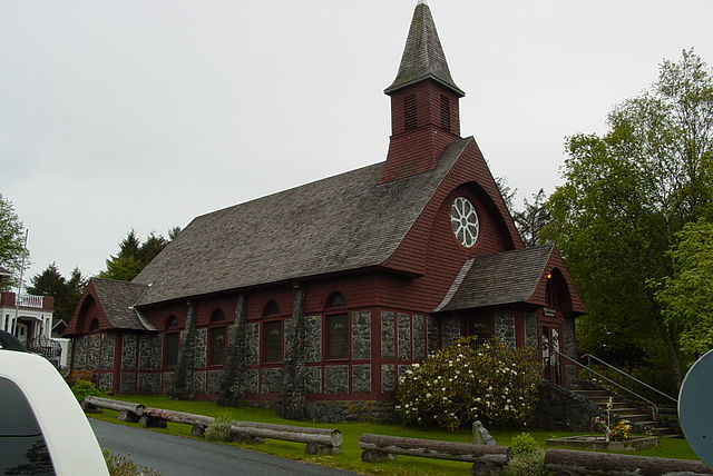 St. Peter's-by-the-Sea Episcopal Church, Sitka, Alaska. Photo by Bob Keefer.