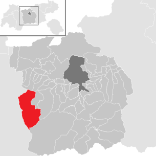 Location of the municipality of St. Sigmund im Sellrain in the Innsbruck-Land district (clickable map)