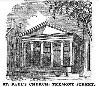 Cathedral Church of St. Paul (Boston) - Image: St Pauls Boston Homans Sketches 1851
