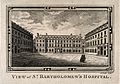 St Bartholomew's Hospital, London; the courtyard, with two f Wellcome V0012991.jpg