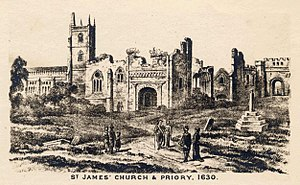 St James' Priory, Bristol - Image: St James' Priory Church, Bristol, BRO Picbox 4 B Ch 22, 1250x 1250