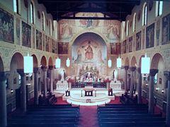St Mary's German Church interior December 1987