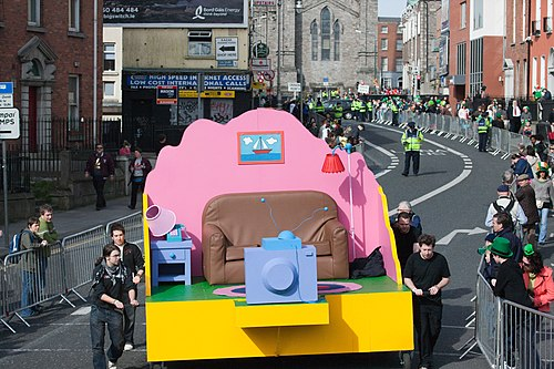 St Patricks Day 2009 - Simpsons Float.jpg