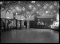 Staff social hall at the Hutt Railway Workshops, decorated for a ball ATLIB 311577.png
