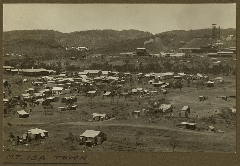 File:StateLibQld 2 256694 Elevated view of the mining town of Mt. Isa, 1932.jpg