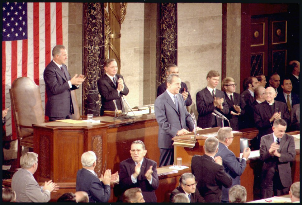 State of the Union Speech in the US Capitol - NARA - 194346