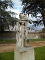 Statue Faune au chevreau (parc du Thabor, Rennes).JPG