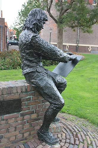 Paulus Potter - Statue of Paulus Potter at the Drommedaris in Enkhuizen