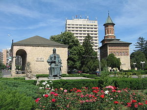 Moldavian style - Image: Statuia lui Dosoftei din Iaşi 2