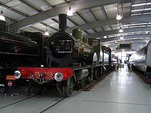 LSWR T3 class - T3 class 4-4-0 No. 563 on display at the Shildon Locomotion Museum.