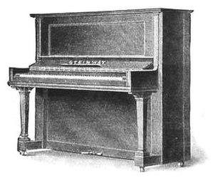 Steinway Vertegrand - Sketch from a 1907 advert for the Steinway Vertegrand