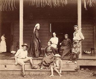 Vailima, Samoa - Stevenson family and friends, Vailima