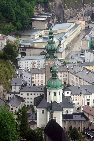 St Peter's Abbey, Salzburg - St. Peter's Abbey Church and monastery, view from Hohensalzburg Castle