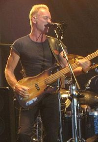 Sting guest starred as himself.