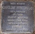 Stolperstein Arnstadt Ried 11-Karoline Friedmann.JPG