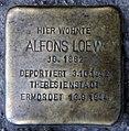 Stolperstein Danziger Str 28 (Prenz) Alfons Loew.jpg