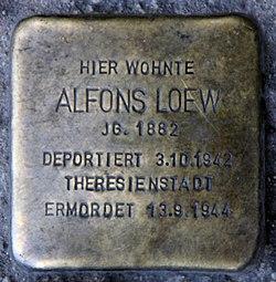 Photo of Alfons Loew brass plaque