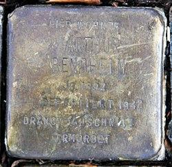 Photo of Arthur Bendheim brass plaque