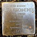 Stolperstein Karlsruhe Flora Kirchheimer Kriegsstr 154 (fcm).jpg