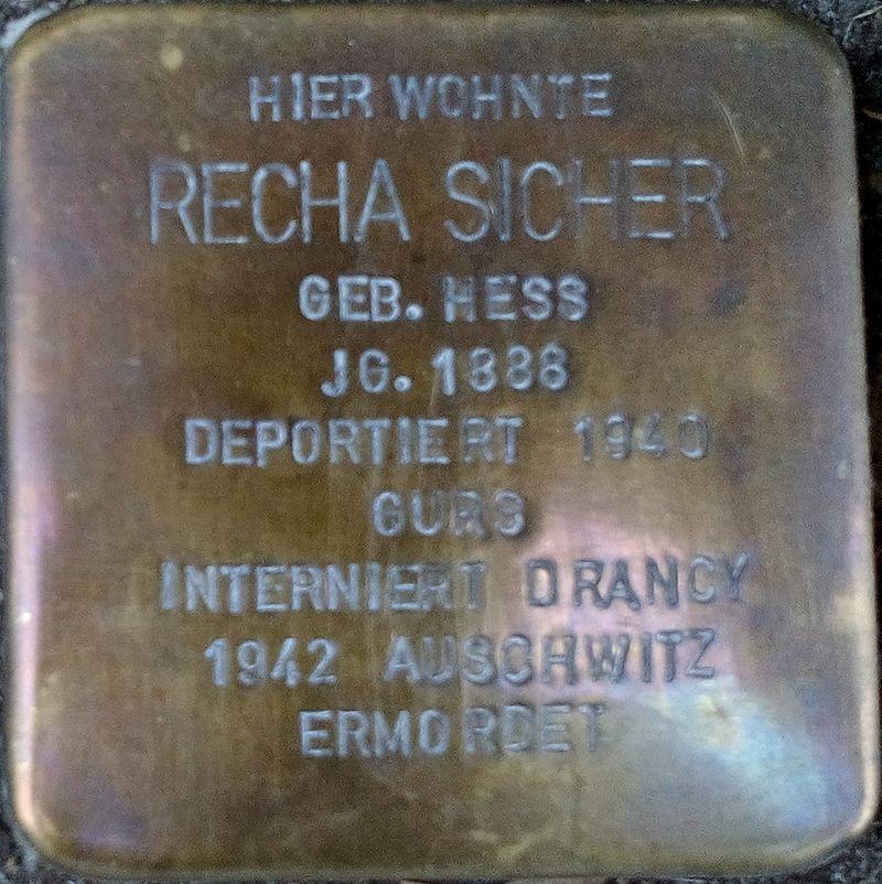 Stolperstein RECHA SICHER.jpg