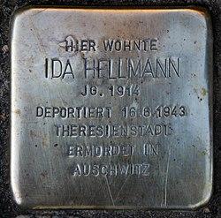 Photo of Ida Hellmann brass plaque