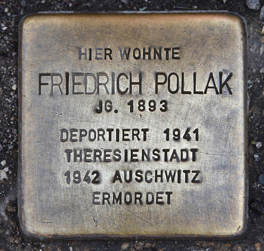 Stolperstein für Friedrich Pollak.JPG