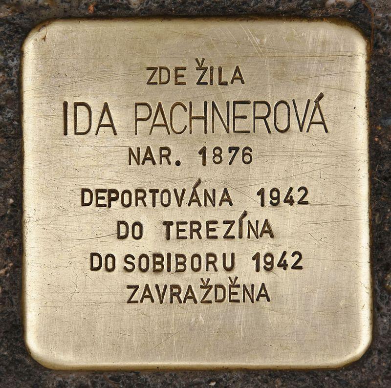 Stolperstein für Ida Pachnerová.JPG