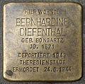 Stolpersteine Köln, Bernhardine Diefenthal (Zülpicher Straße 318).jpg
