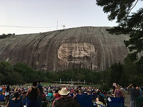 Stone Mountain Before Lasershow 2017.jpg