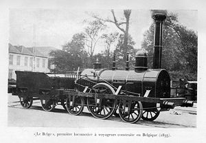 "Commemorative Decoration of the 50th Anniversary of the Creation of the Railroads - The first Belgian made locomotive in 1835 ""Le Belge"""