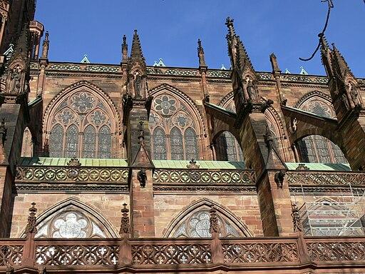 Straßburg Münster Südseite Langhaus