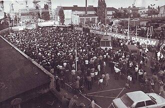Szczecin Agreement - Strike at Szczecin Shipyard, August 1980