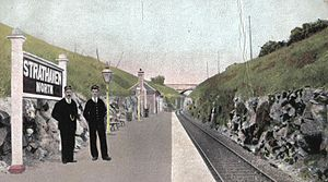Strathaven - Strathaven North station in 1906