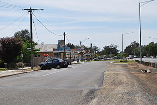 Strathmerton Town in Victoria, Australia