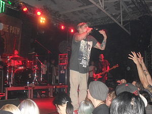 Stray from the Path - Vocalist Drew York in 2013