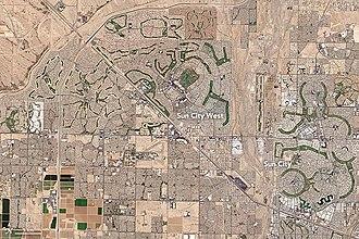 Sun City, Arizona - Sun City and Sun City West, Arizona from Landsat 8, 2016